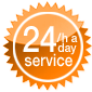 24/a day service